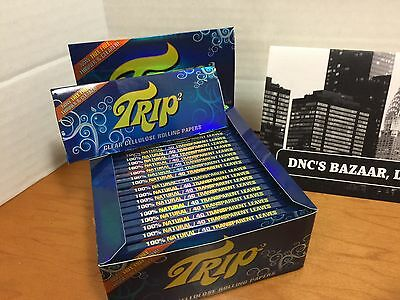 One King Size Trip 2 Clear Cellulose Transparent Cigarette Rolling (Transparent Rolling Papers)