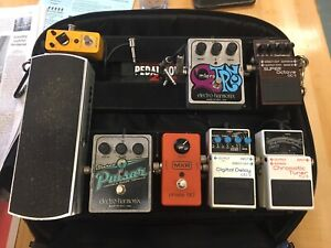 Guitar Pedals + Pedal board. $60 -> $200