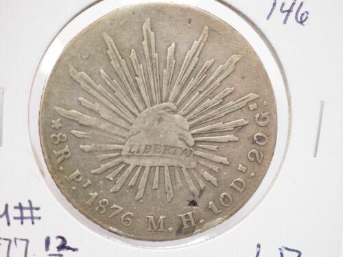 Mexico Peso 1876 Pi MH  KM#377.12  Silver Coin #  F 146