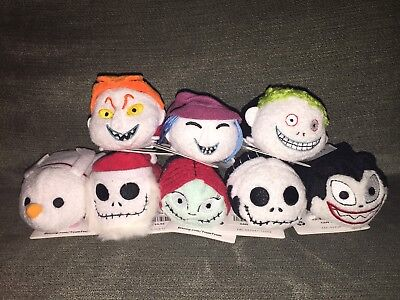 Nwt Auth Disney Store Exclusive Nightmare Before Christmas Tsum Tsum Set Of 8
