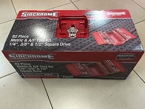 Sidchrome 82 Piece Cantilever Tool Set socket set with spanners and tool box