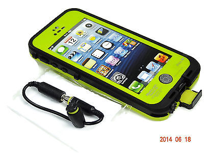 WATERPROOF SHOCKPROOF DIRTPROOF CASE FOR APPLE iPHONE 5 5S W/ TOUCH ID - GREEN on Rummage