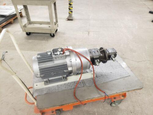 Elmor MT132MA4 7.5 Kw Motor With Rexroth PGH4-21/020RE11VU2, PGH3-22/01RR07VU2