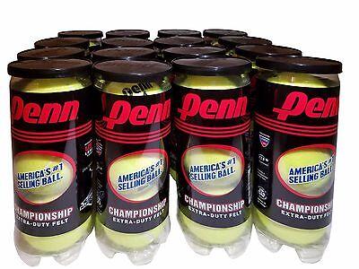 Penn Championship Tennis Balls 16 Cans Extra Duty Felt 48 Ball Pack
