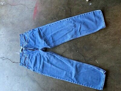 Levis Red Tab 550 Mens 33X30 Medium Wash Distressed RELAXED Fit Jeans