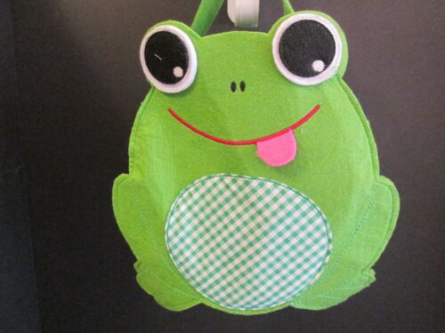 Old Navy Green Frog Style Felt Basket, New