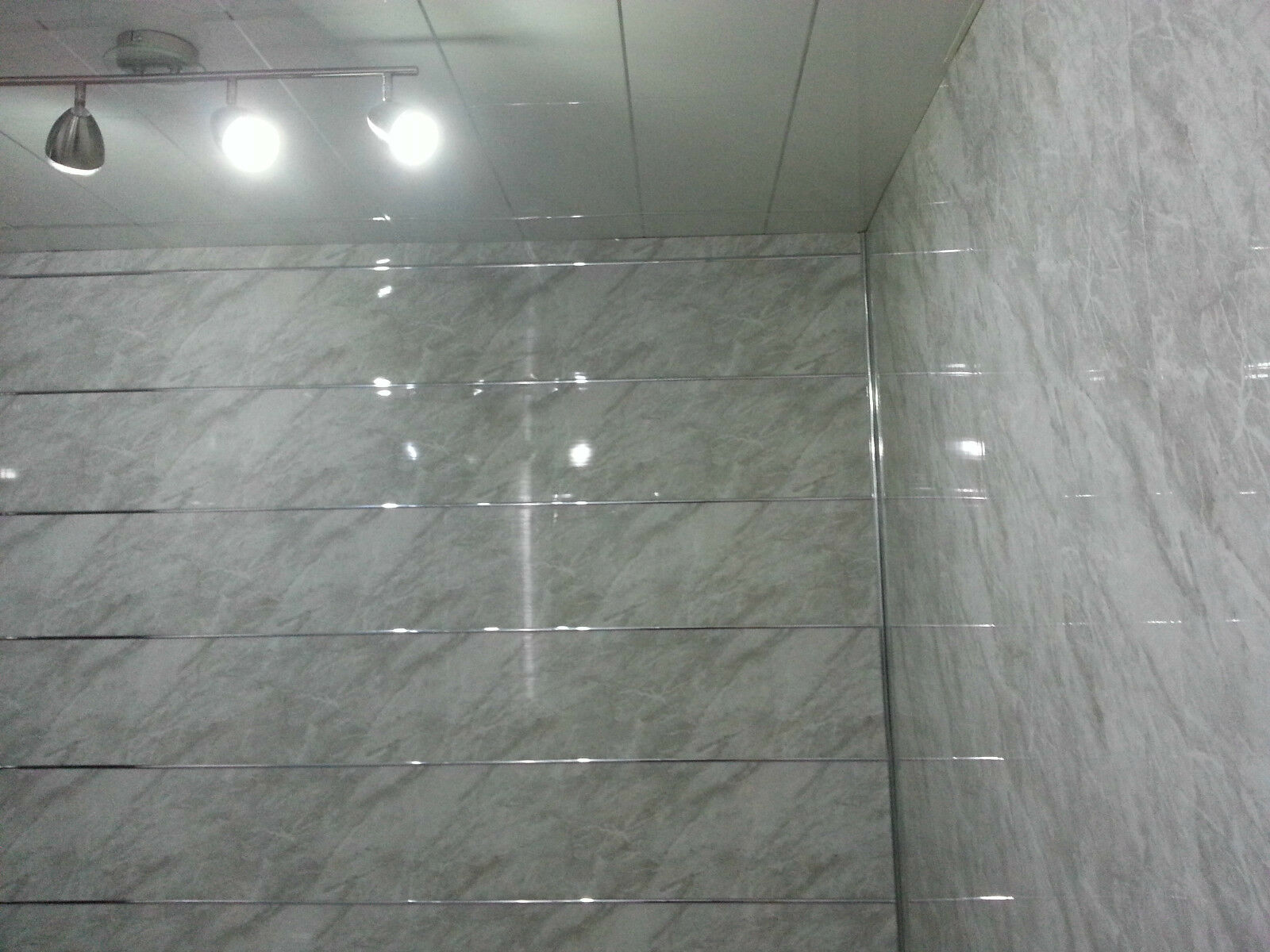 Waterproof bathroom wall panels uk - 3 Slate Grey Marble Effect Pvc Bathroom Wall Cladding