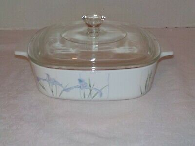 """SHADOW IRIS"" Corning Ware 1 Liter Covered Casserole w/Lid Baking Dish  A-1-B"