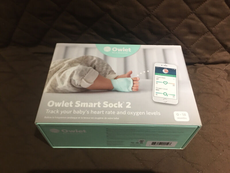 Owlet Smart Sock 2 Baby Monitor 0-18 MONTHS BABY HEART RATE & OXYGEN SHIPS FREE