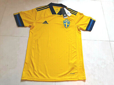 NWT! adidas 2020-21 Sweden Home Soccer Jersey FH7620 Men's Size-Small image