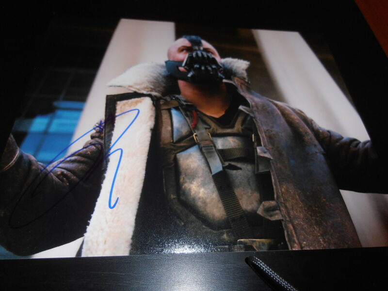 TOM HARDY SIGNED AUTOGRAPH 8x10 PHOTO DARK KNIGHT RISES ACTION SHOT BATMAN COA I