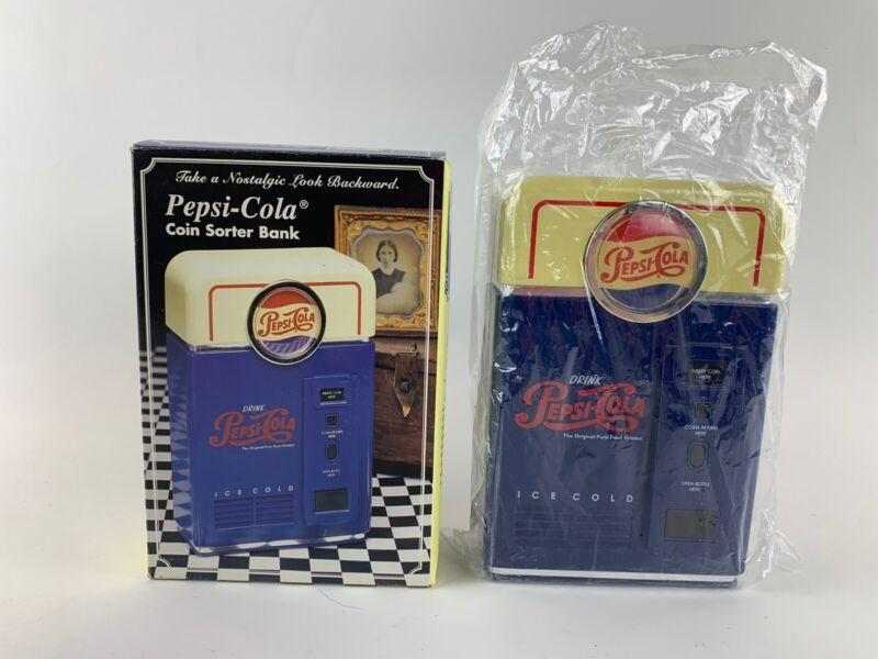 Vintage 1996 Pepsi-Cola Coin Sorter Bank w/ box Collectible Piggy Bank Pepsi