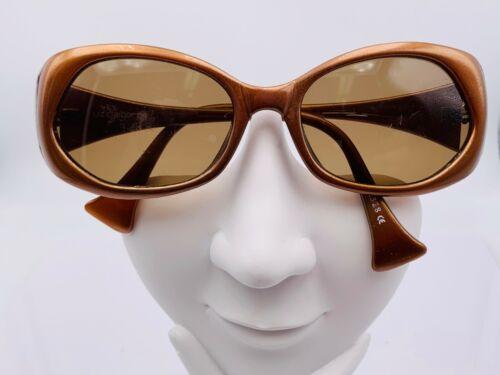 Vintage Liz Claiborne 12328 Metallic Brown Oval Sunglasses Frames