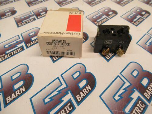 Cutler Hammer 10250T1E, Series B1, Contact Block 1 N.O.-1 N.C.- NEW-B