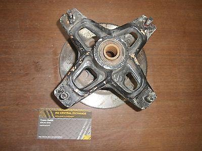 85 86 Suzuki Lt250r Lt250 R Quadracer Lt Front Wheel Stub Hub   Brake Disc Asm