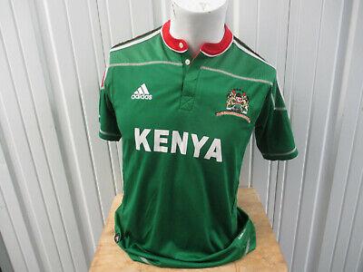 VINTAGE ADIDAS KENYA NATIONAL TEAM YOUTH XL GREEN SEWN JERSEY WOMEN'S 2008 KIT image