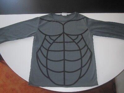 Batman Ritter Shirt mit Muskel Aufdruck Gr. 4-6 J Kostüm Fasching Karneval