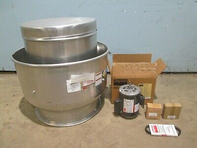 Dayton 5dvl6 Hd Commercial Exhaust Fan Complete W13hp Motor Drive Assembly