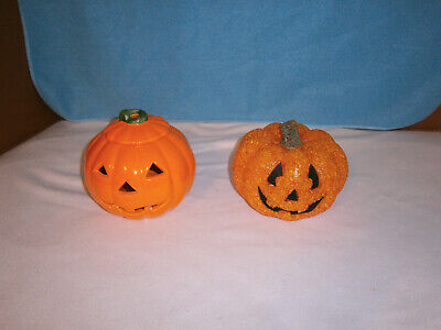 Halloween Ceramic & Popcorn Pumpkins