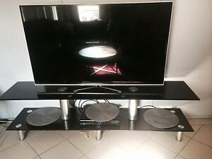 Black tv unit and heater Chester Hill Bankstown Area Preview