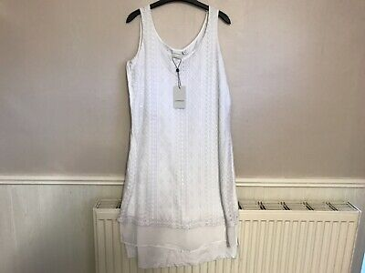 Womens ladies JUNAROSE white dress size S 14  BNWT