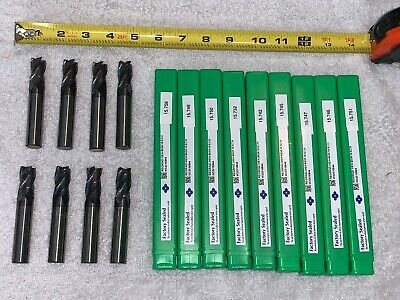 8 Qty Huge Lot Sumitomo Carbide 4 Flute End Mill Milling Tool Bit 803k10scm