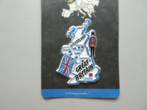 GREAT BRITAIN LONDON SCOTLAND EUROPE SOUVENIR & TRAVEL COLLECTIBLE MAGNET
