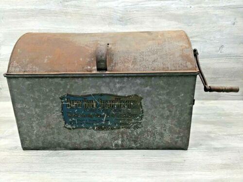 Vintage Happy Home Steam Washer Dome-Top Metal Hand Crank Roller Washing Machine