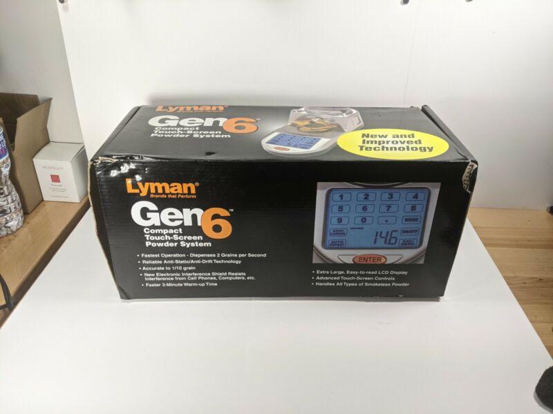 Lyman Gen 6 Compact Digital Powder System #7750550 Touch Screen 2 Grains per Sec