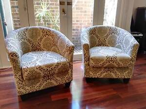 Matching club armchairs x 2 - pick up Brighton Vic Brighton Bayside Area Preview
