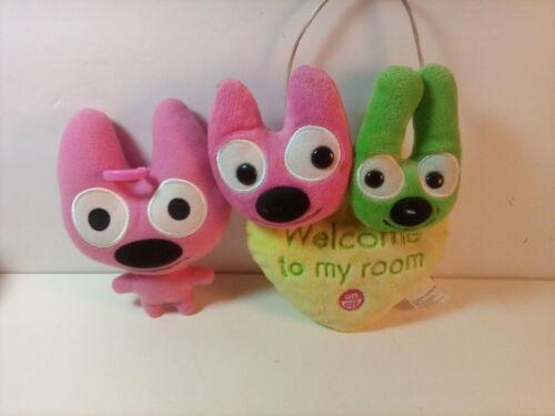 """Hallmark """"Hoops & YoYo"""", Talking """" Welcome To My Room"""" Door Hang + Plush"""
