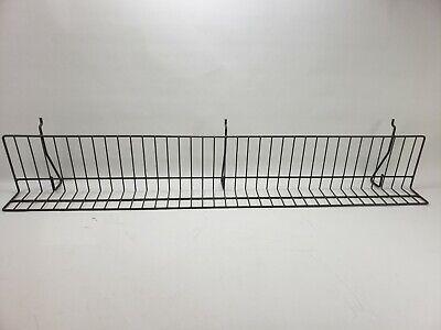 Reeve 36 X 5 X 3 Slatwall Pegboard Slanted Wire Display Shelves - Used