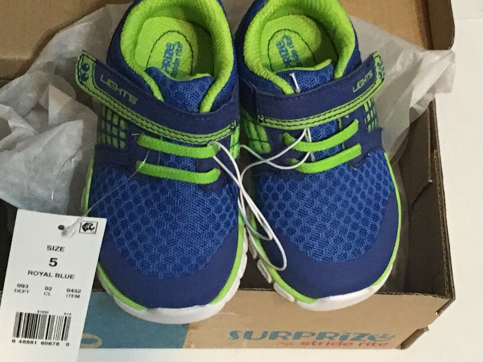 """Surprize by Stride Rite """"DARWIN"""" Boy's Light-Up Athletic sho"""