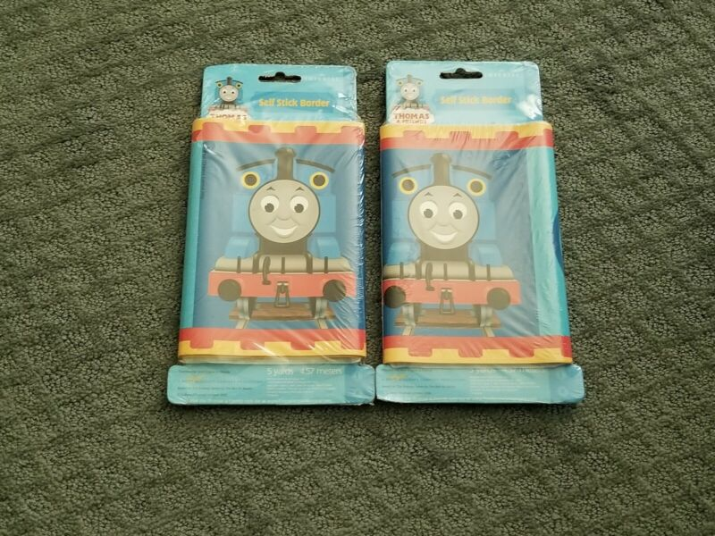 2) THOMAS THE TRAIN SELF STICK BORDER ( NEW ) 5 YARD PKG