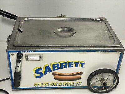 Sabrett Hot Dog Table Top Cart Works No Umbrella