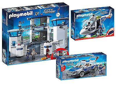 Playmobil® 6872 Polizei Station Auto und Hubschrauber  6873 6874 Set  neu ovp