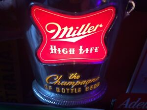 Miller high life beer lighted sign