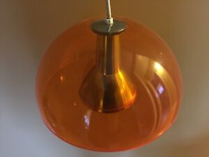 Mid Century Space Age Lucite Hanging Lamp