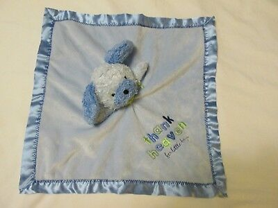 Child Mine Dog Puppy Security Blanket Lovey Rattles Thank Heaven for Little Boys