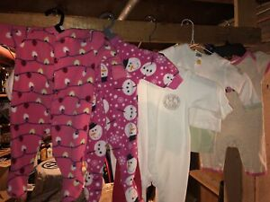 Girls 0-3 month winter clothing lot