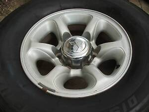 5 FACTORY 15'' MITSUBISHI PAJERO ALLOY WHEELS WITH TYRES Belconnen Belconnen Area Preview