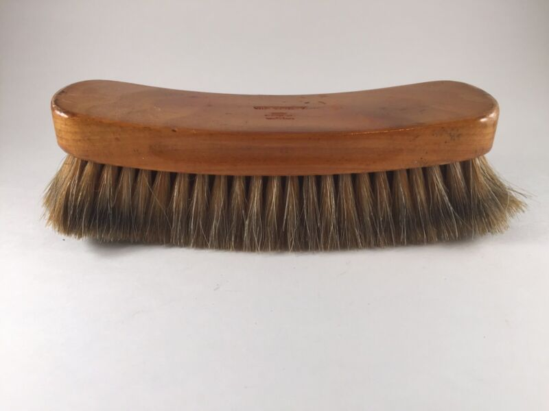 Vintage VICTOR 8 Inch Wooden SHOE SHINE Horse Hair BRUSH, Made in USA