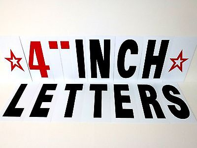 Extra Letter Kit 257pc For Sidewalk Sign -black Letters 4 Changeable Flexible
