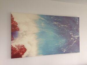 """Gorgeous 5.5""""x3"""" Ocean Wave Lava Rock Print"""