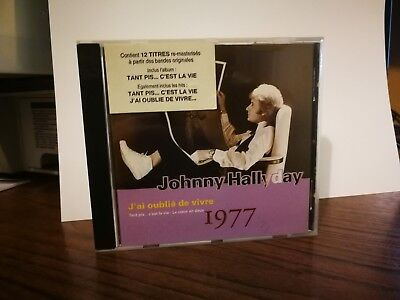 """JOHNNY HALLYDAY  CD """" J'ai oublié de vivre """""""