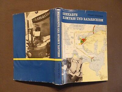 Buch, Scharnow, Seekarte, Kompass und Radarschirm, Navigation, DDR EA 1962