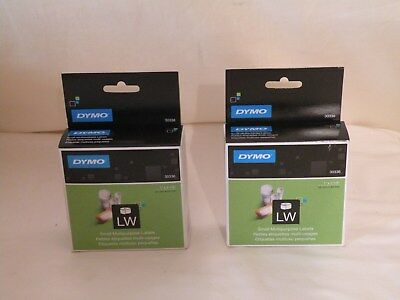 Genuine Oem Dymo 30336 Self-adhesive Labels 1 X 2-18 500 Each Lot Of 2