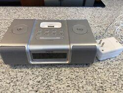 iHome (iH9) Black Ipod Speaker Dock Dual Alarm Clock Radio