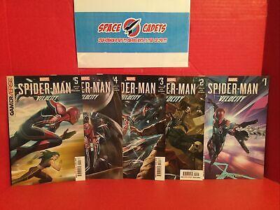 Lot Of 5 Marvel Comics Spider-Man Velocity #1-5 Debut Velocity Suit Adi Granov
