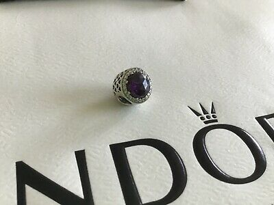 Pandora Silver Charm, Purple and Clear Crystals, SUPERB CONDITION for sale  Shipping to South Africa